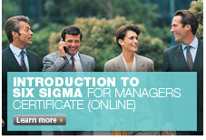 Introduction to Six Sigma for Managers Certificate